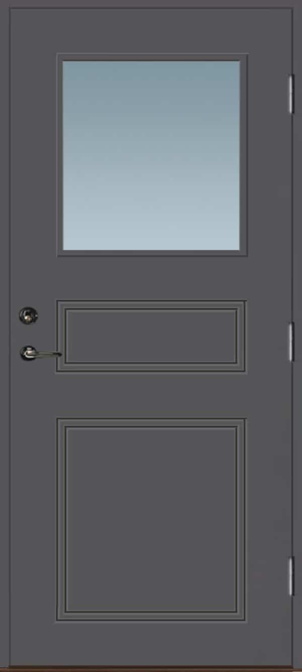Dörr med glas grå