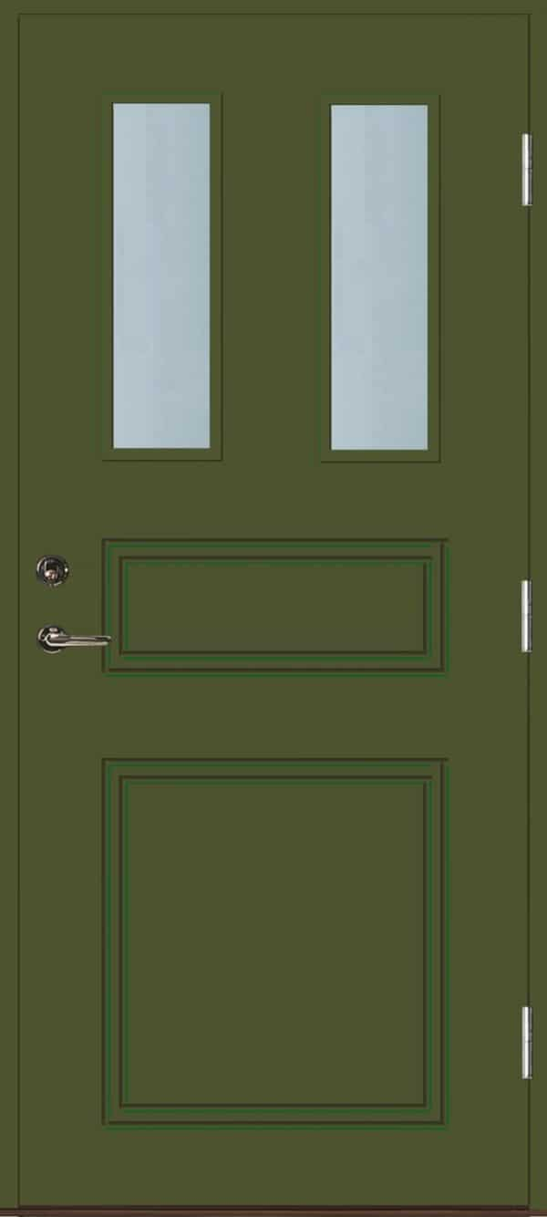 Dörr med glas grön