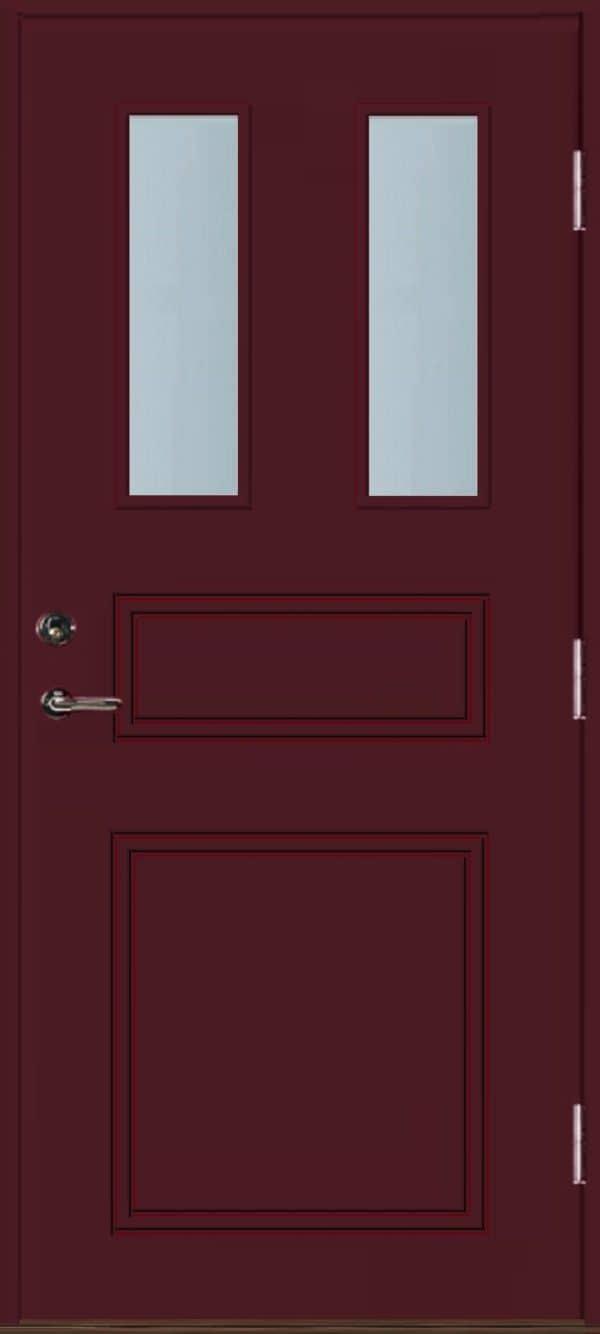 Dörr med glas röd