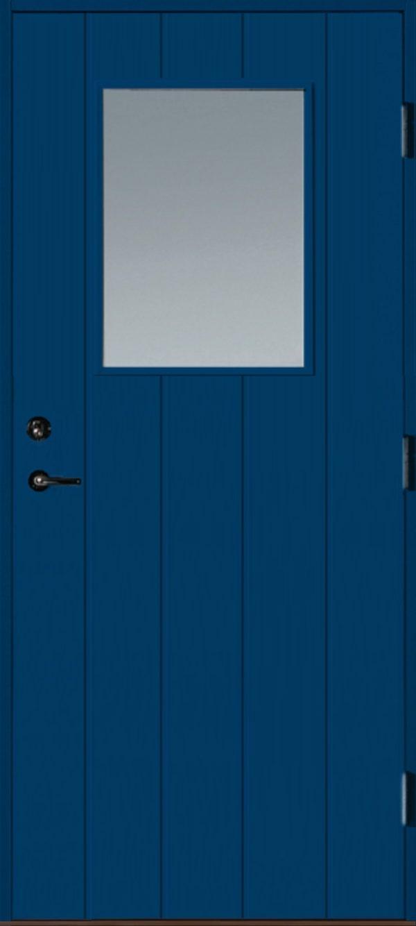 Dörr med glas blå