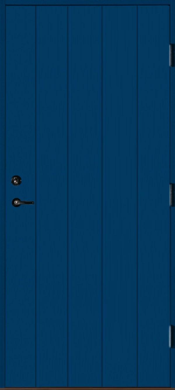 Dörr rakspårad blå