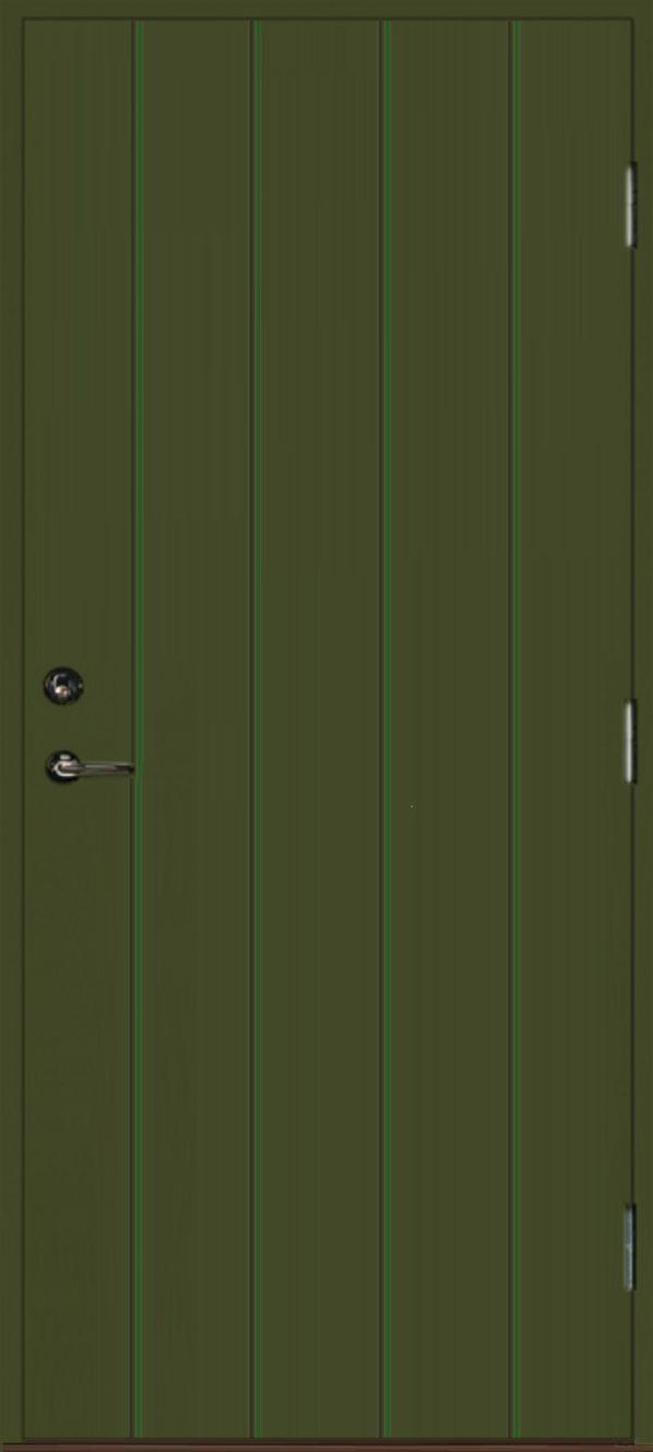 Dörr rakspårad grön