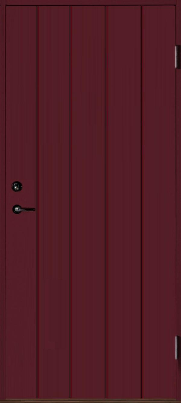 Dörr rakspårad röd